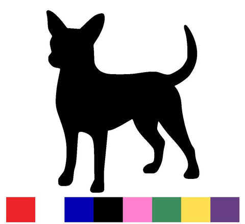Chihuahua Silhouette Decal Vinyl Sticker