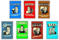 Retro Style Beer Acrylic Magnets - Collection 3