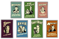 Retro Style Beer Acrylic Magnets - Collection 7