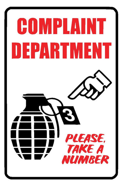 Complaint Department Decal Vinyl Sticker