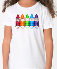 Kittens and Crayons Colour Changing T Shirt