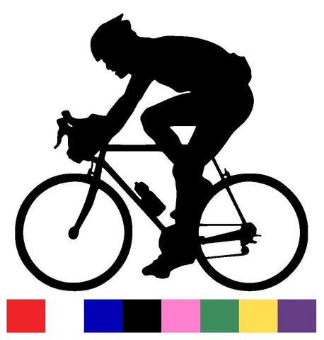 Cycling Silhouette Vinyl Decal Sticker