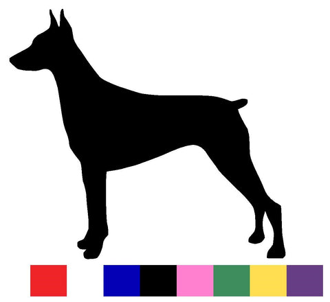 Doberman Silhouette Decal Vinyl Sticker