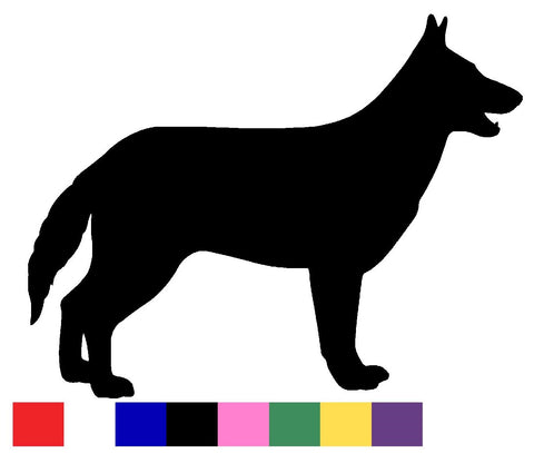 German Shepherd Silhouette Decal Vinyl Sticker
