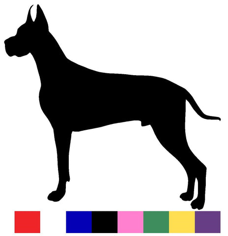 Great Dane Silhouette Decal Vinyl Sticker
