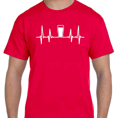Heartbeat Beer  T Shirt 7 Colours Available