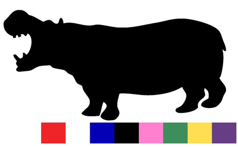 Hippo Silhouette Decal Vinyl Sticker
