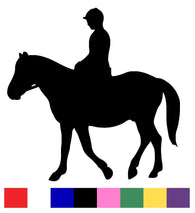 Horse Riding Silhouette Vinyl Decal Sticker