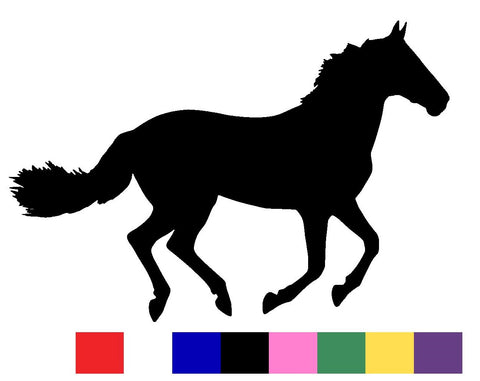 Horse Silhouette Decal Vinyl Sticker