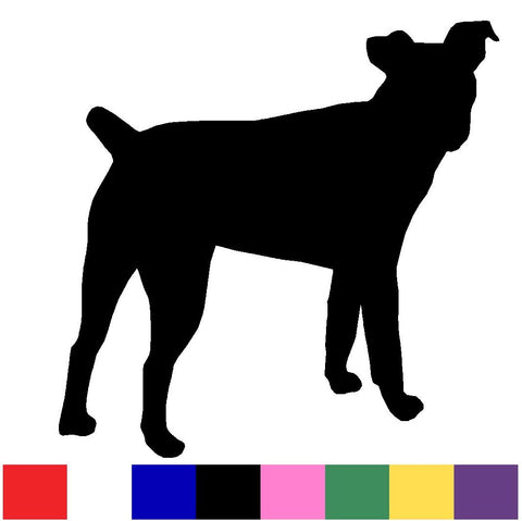 Jack Russell Silhouette Decal Vinyl Sticker
