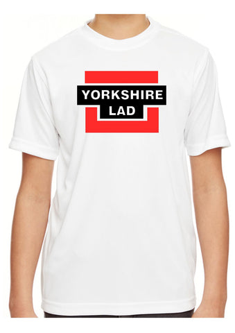 Boys Yorkshire Lad White Short Sleeve T Shirt