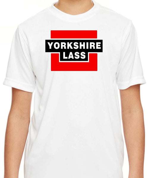 Girls Yorkshire Lass White Short Sleeve T Shirt