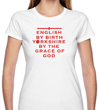 Ladies Grace of God Yorkshire White Short Sleeve T Shirt