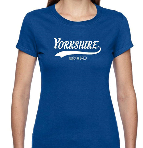 YORKSHIRE BORN AND BRED SHORT SLEEVE T SHIRT