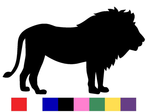 Lion Silhouette Decal Vinyl Sticker