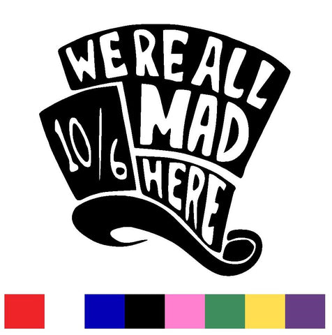 Mad Hatter Decal Vinyl Sticker