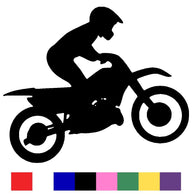 Motorcross Silhouette Vinyl Decal Sticker