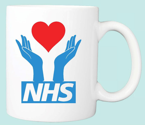 NHS Caring Hands and Heart Mug