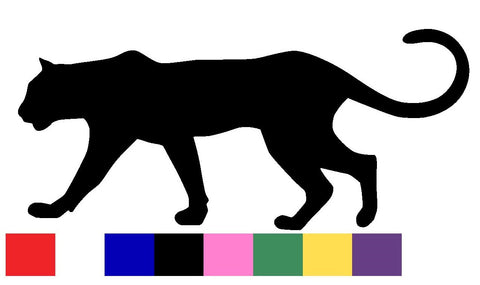 Panther Silhouette Decal Vinyl Sticker