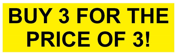 3 for the Price of 3 Decal Vinyl Sticker