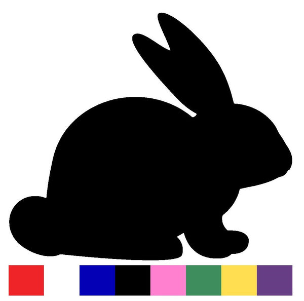 Rabbit Silhouette Decal Vinyl Sticker