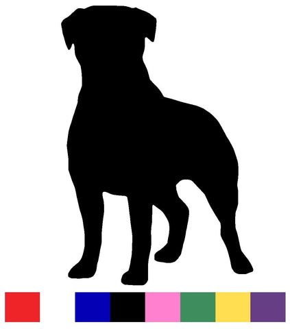 Rottweiler Silhouette Decal Vinyl Sticker