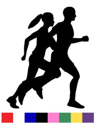 Running Silhouette Vinyl Decal Sticker