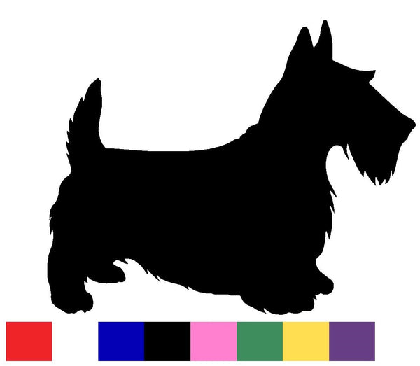 Scottish Terrier Silhouette Decal Vinyl Sticker