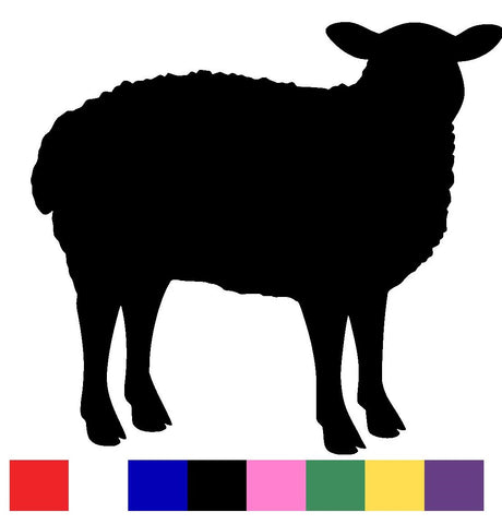 Sheep Silhouette Decal Vinyl Sticker