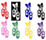 Ballet Shoes Silhouette Decal Vinyl Sticker