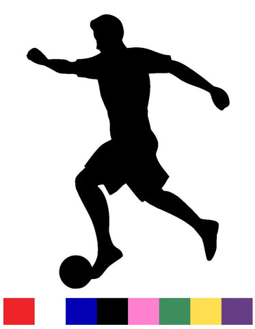 Male & Female Soccer Silhouette Vinyl Decal Sticker