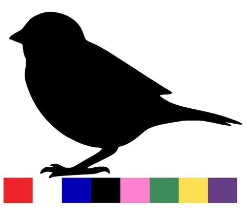Sparrow Silhouette Decal Vinyl Sticker