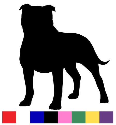 Stafforshire Bull Terrier Silhouette Decal Vinyl Sticker