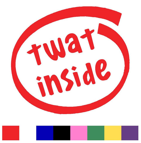 Twat Inside Silhouette Decal Vinyl Sticker