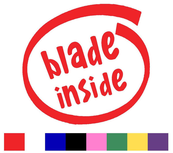 Blades Silhouette Decal Vinyl Sticker