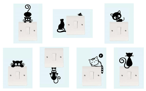 Cat Light Switch Collection Decal Sticker