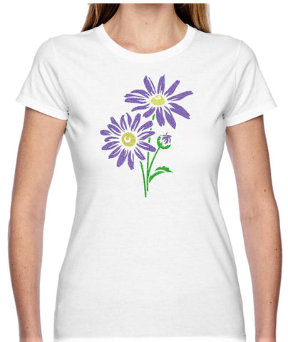 Daisy Glitter T Shirt - Personalised Available in 2 colours