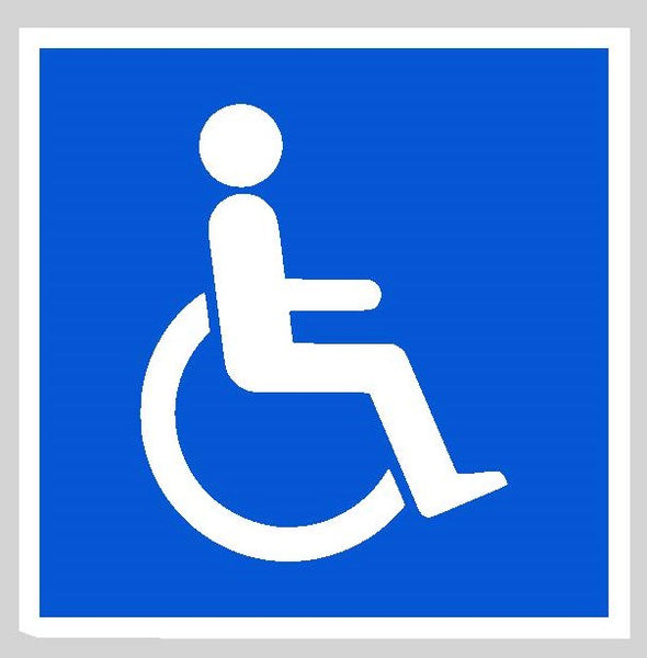 Disabled Car Sticker Blue Badge with waterproof and UV protection
