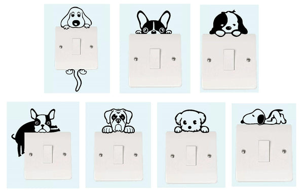 Dog Light Switch Collection Decal Sticker