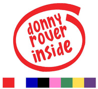 Donny Rover Silhouette Decal Vinyl Sticker