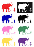 Girl with Elephant Silhouette Decal Vinyl Sticker