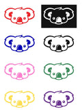 Koala Face Silhouette Decal Vinyl Sticker