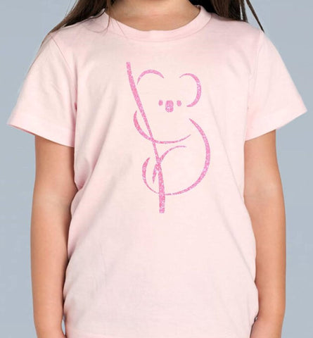 Girls Koala on a Branch T Shirt - Personalised Available in 3 colours