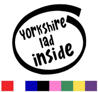 Yorkshire Lad Silhouette Decal Vinyl Sticker