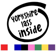 Yorkshire Lass Silhouette Decal Vinyl Sticker