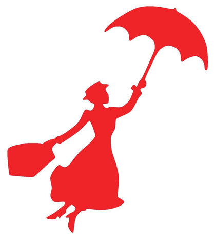 Mary Poppins Silhouette Decal Vinyl Sticker