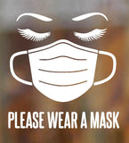 Please Wear A Face Mask Decal Vinyl Sticker