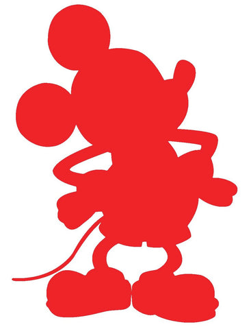 Mouse Silhouette Decal Vinyl Sticker