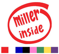 Miller Silhouette Decal Vinyl Sticker