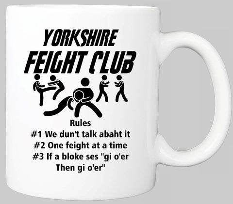 YORKSHIRE FEIGHT CLUB MUG